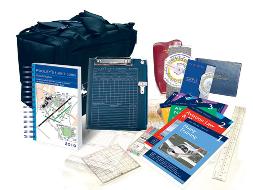 Student Pilot Package of Books and equipment and map